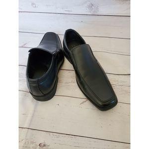 Perry Ellis Portfolio Black Slip-On Dress Shoes